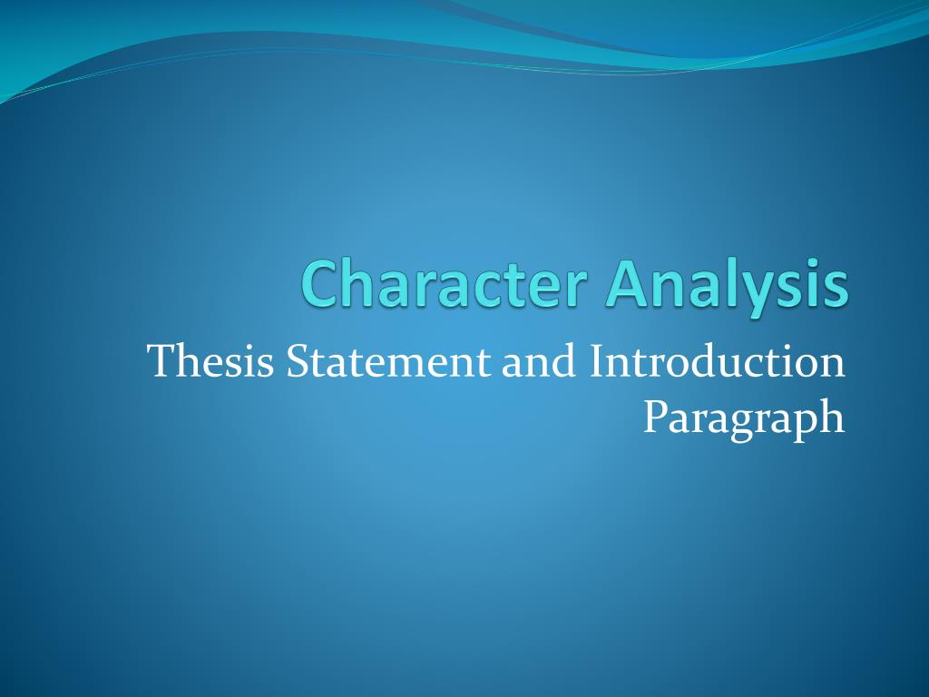 character analysis l.