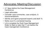 advocates meeting discussion
