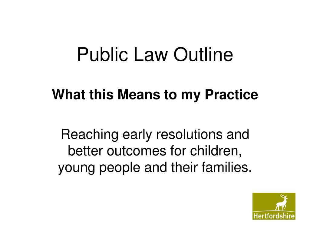 public law outline l.
