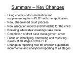 summary key changes38