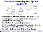 electronic assembly test system model 4 1