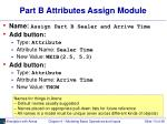 part b attributes assign module