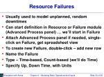 resource failures