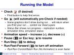 running the model