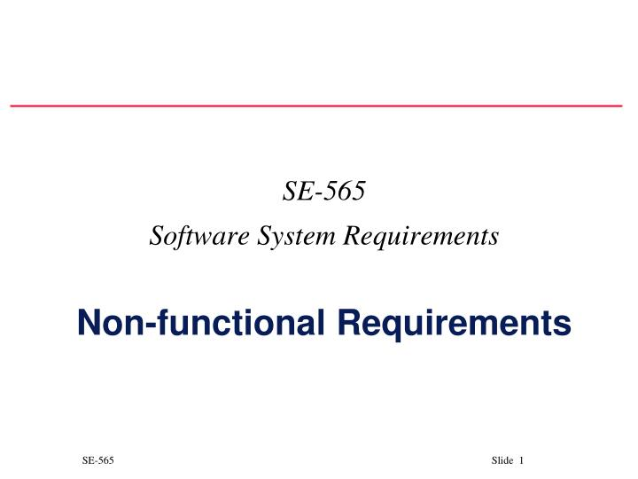 se 565 software system requirements non functional requirements n.