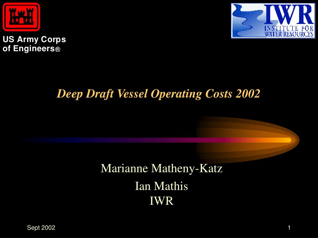 deep draft vessel operating costs 2002 l.