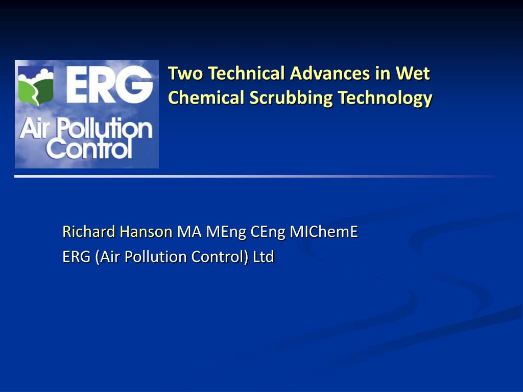 two technical advances in wet chemical scrubbing technology l.