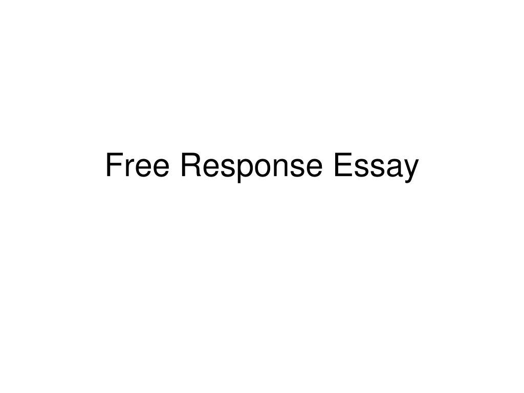 free response essay l.