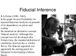fiducial inference