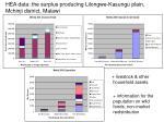 hea data the surplus producing lilongwe kasungu plain mchinji district malawi