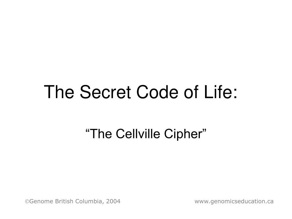 the secret code of life l.