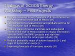 findings of gcoos energy workshop pilot projects