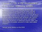 industry s role in the development of an ocean observing system
