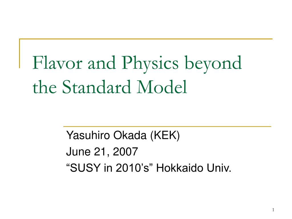 flavor and physics beyond the standard model l.