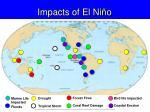 impacts of el ni o