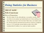 doing statistics for business13