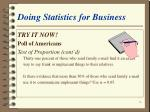 doing statistics for business14
