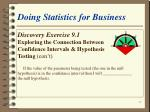 doing statistics for business22