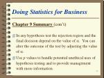 doing statistics for business30