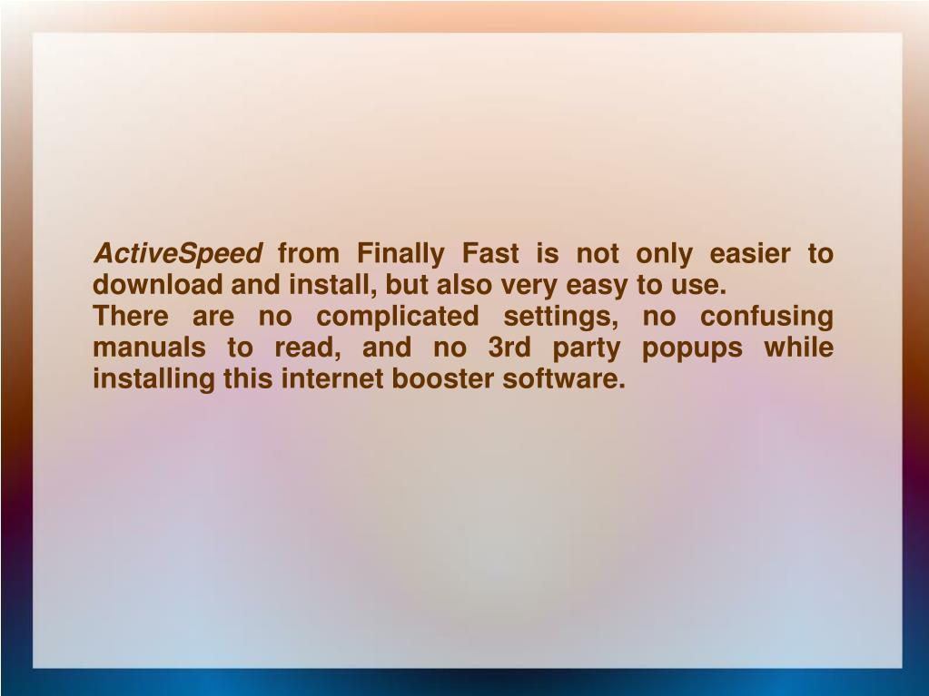 ActiveSpeed