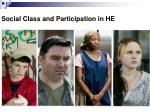 social class and participation in he