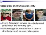 social class and participation in he6