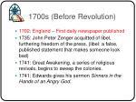 1700s before revolution