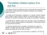translation rotation autour d un axe fixe
