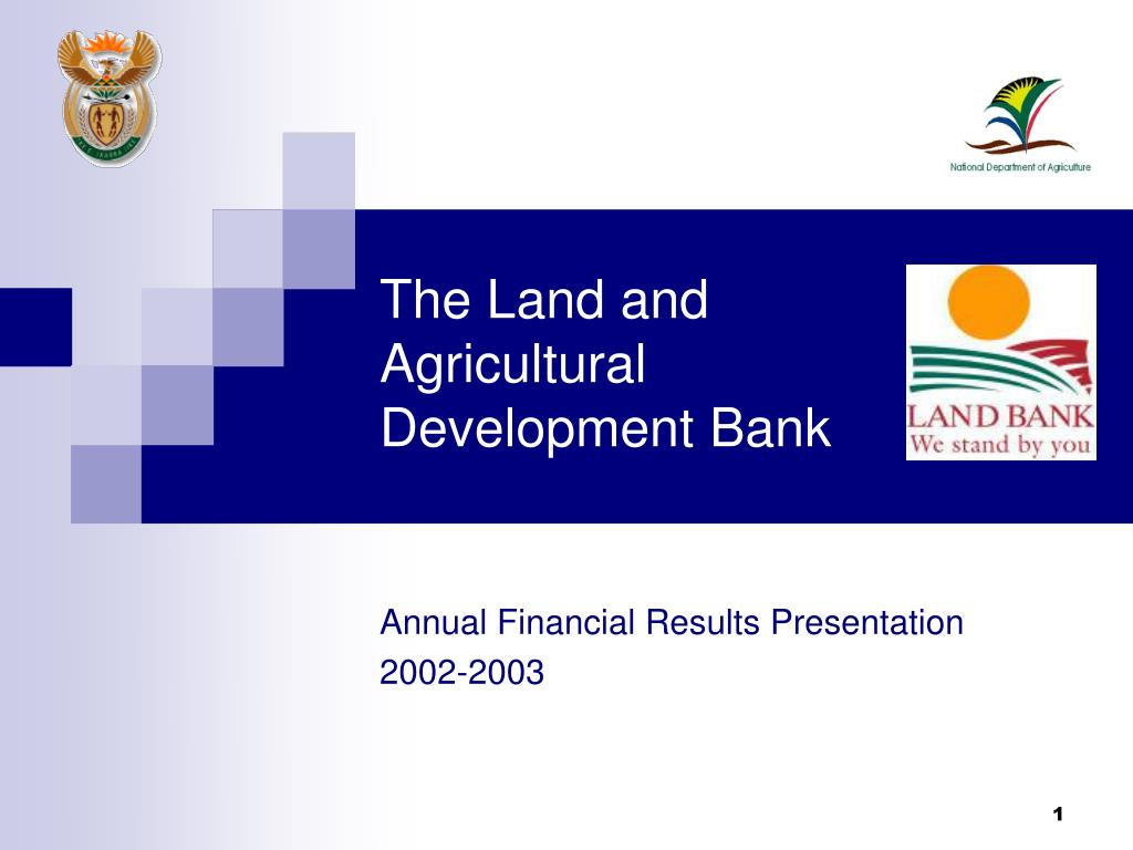 the land and agricultural development bank l.