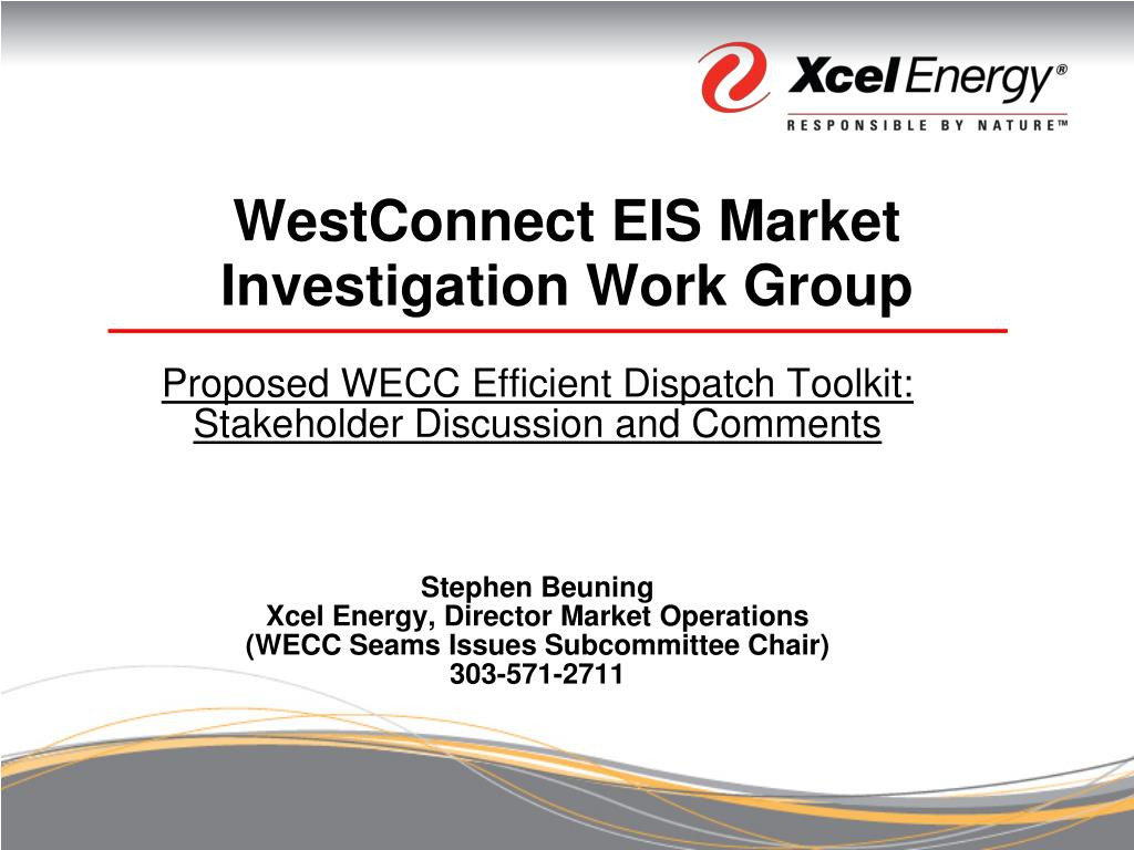 westconnect eis market investigation work group l.