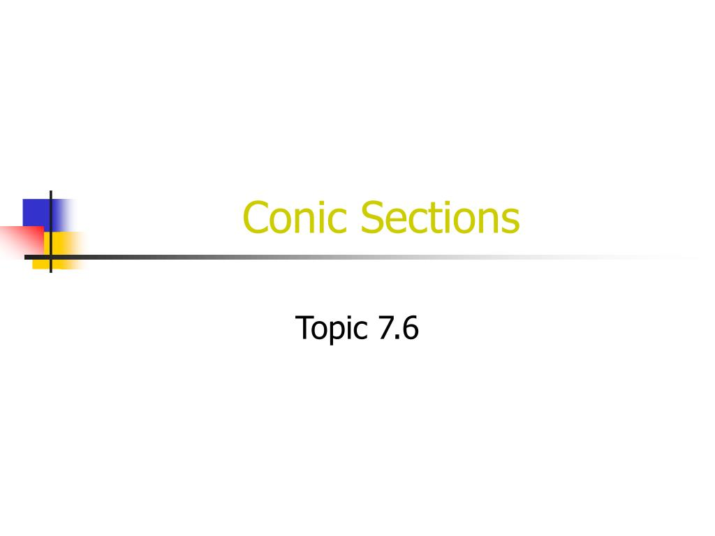 conic sections l.