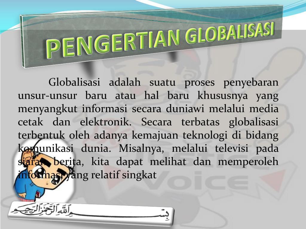 pengertian globalisasi l.