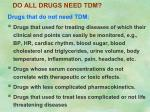 do all drugs need tdm