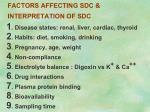 factors affecting sdc interpretation of sdc