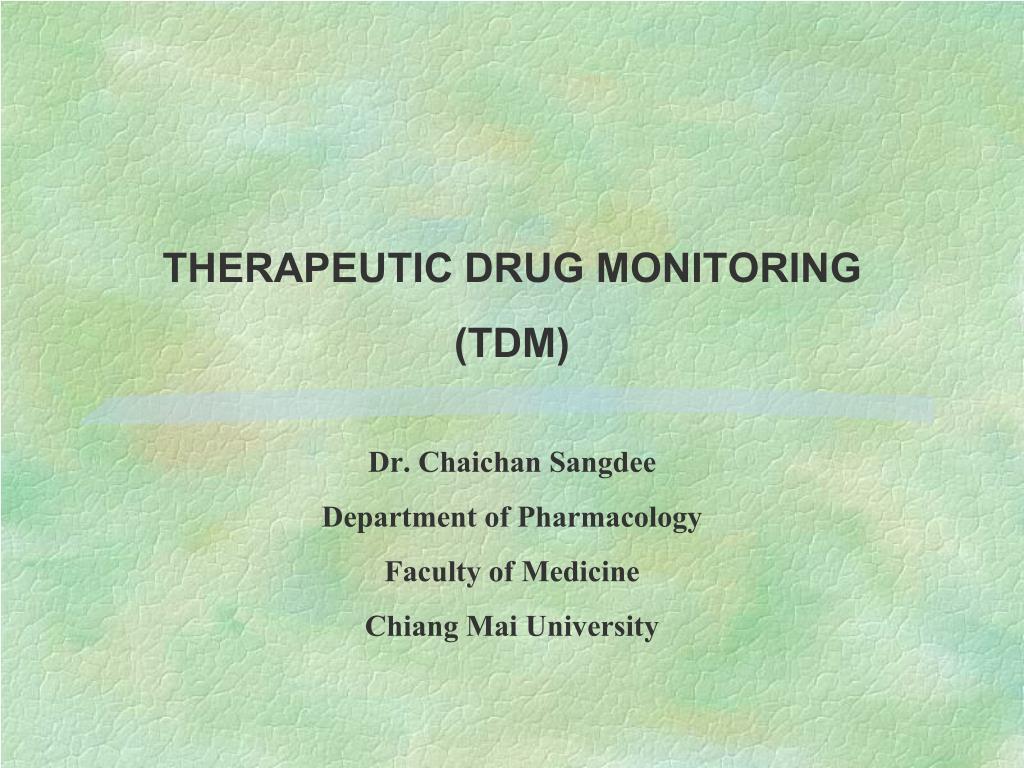 therapeutic drug monitoring tdm l.