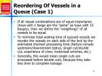 reordering of vessels in a queue case 1