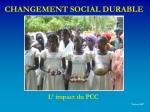 changement social durable