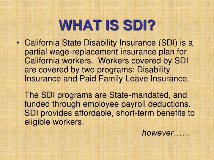 What is sdi