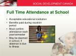 full time attendance at school