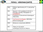 history milestones cont d