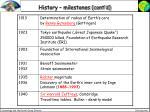 history milestones cont d8
