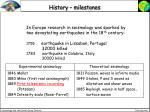 history milestones