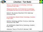 literature text books