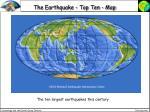 the earthquake top ten map