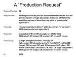 a production request