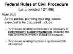 federal rules of civil procedure as amended 12 1 06
