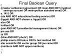 final boolean query