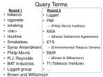 query terms