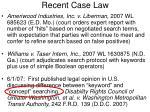 recent case law