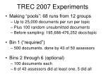 trec 2007 experiments